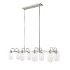 This item: Delaney Brushed Nickel Eight-Light Pendant With Transparent Glass