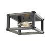 This item: Kirkland Ashen Barnboard Two-Light Flush Mount