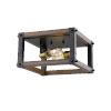 This item: Kirkland Rustic Mahogany Two-Light Flush Mount