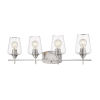 This item: Joliet Brushed Nickel Four-Light Vanity with Transparent Glass