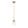 This item: Joliet Olde Brass One-Light Mini Pendant with Transparent Glass