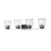 This item: Jackson Chrome and Matte Black Four-Light Vanity with Transparent Glass