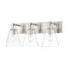 This item: Harper Brushed Nickel Three-Light Bath Vanity