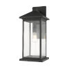 This item: Black One-Light Outdoor 9-Inch Wall Sconce With Transparent Beveled Glass
