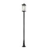 This item: Black 12-Inch One-Light Outdoor Post Mounted Fixture With Transparent Beveled Glass