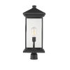 This item: Black 9-Inch One-Light Outdoor Post Mounted Fixture With Transparent Beveled Glass