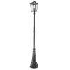 This item: Bayland Black Three-Light Outdoor Post Mount