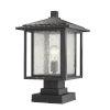 This item: Aspen Black 18-Inch One-Light Outdoor Pier Mount