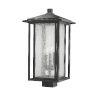 This item: Aspen Black Three-Light Outdoor Post Mount