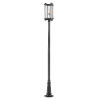 This item: Fallow Black 119-Inch One-Light Outdoor Post Mount with Clear Seedy Glass