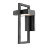 This item: Luttrel Black 15-Inch LED Outdoor Wall Sconce with Frosted Glass