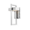 This item: Luttrel Silver LED Outdoor Wall Sconce with Frosted Glass