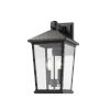 This item: Beacon Black Two-Light Outdoor Wall Sconce With Transparent Beveled Glass