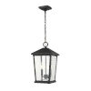 This item: Beacon Black Two-Light Outdoor Pendant With Transparent Beveled Glass