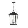 This item: Beacon Black Three-Light Outdoor Pendant With Transparent Beveled Glass