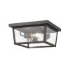 This item: Beacon Oil Rubbed Bronze Three-Light Outdoor Flush Ceiling Mount Fixture With Transparent Beveled Glass