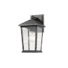 This item: Beacon Black One-Light Outdoor Wall Sconce With Transparent Beveled Glass