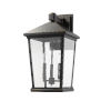 This item: Beacon Oil Rubbed Bronze Three-Light Outdoor Wall Sconce With Transparent Beveled Glass