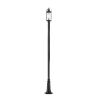 This item: Roundhouse Black One-Light Outdoor Post Mounted Fixture With Transparent Seedy Glass