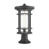 This item: Jordan Black One-Light Outdoor Pier Mounted Fixture With Transparent Seedy Glass
