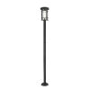 This item: Jordan Black One-Light Outdoor Post Mounted Fixture With Transparent Seedy Glass