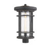 This item: Jordan Oil Rubbed Bronze One-Light Outdoor Post Mounted Fixture With Transparent Seedy Glass