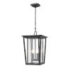 This item: Seoul Oil Rubbed Bronze Two-Light Outdoor Pendant With Transparent Glass
