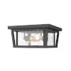 This item: Seoul Oil Rubbed Bronze Three-Light Outdoor Flush Ceiling Mount Fixture With Transparent Glass