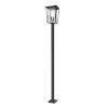 This item: Seoul Oil Rubbed Bronze Three-Light Outdoor Post Mounted Fixture With Transparent Glass