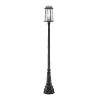 This item: Millworks Black Two-Light Outdoor Post Mounted Fixture With Transparent Beveled Glass