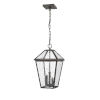 This item: Talbot Rubbed Bronze Three-Light Outdoor Chain Mount Ceiling Fixture Chandelier with Seedy Glass