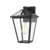 This item: Talbot Black One-Light Outdoor Wall Sconce with Transparent Bevelled Glass