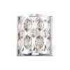 This item: Dealey Chrome Two-Light Wall Sconce With Transparent Crystal