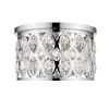 This item: Dealey Chrome Four-Light Flush Mount With Transparent Crystal