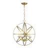 This item: Aranya Heirloom Brass Four-Light Pendant