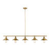 This item: Casa Factory Brass Five-Light Pendant