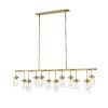 This item: Calliope Foundry Brass 12-Light Island Pendant