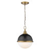 This item: Peyton Matte Black and Factory Bronze Two-Light Pendant With Opal Etched Glass