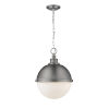This item: Peyton Antique Nickel Two-Light Pendant With Opal Etched Glass