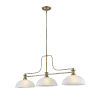 This item: Melange Heritage Brass Three-Light Pendant With White Linen Glass