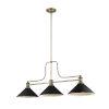This item: Melange Heritage Brass Three-Light Pendant