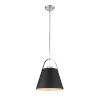 This item: Z-Studio Matte Black and Brushed Nickel One-Light Pendant