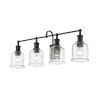 This item: Bryant Matte Black Four-Light Bath Vanity