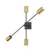 This item: Calumet Matte Black and Olde Brass Two-Light Wall Sconce
