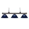 This item: Riviera Olde Bronze Three-Light Billiard Pendant with Dark Blue Acrylic Shades