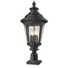 This item: Medow Four-Light Black Outdoor Pier Mount with Clear Seedy Glass