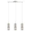 This item: Carmelia Satin Nickel Three-Light Pendant Lighting with Brushed Nickel Stainless Steel Shade