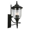 This item: Pinedale Matte Black 10-Inch Three-Light Outdoor Wall Sconce