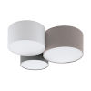 This item: Taupe, White and Gray 22-Inch Three-Light Flush Mount