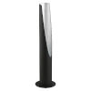 This item: Barbotto Matte Black and Silver LED Table Lamp